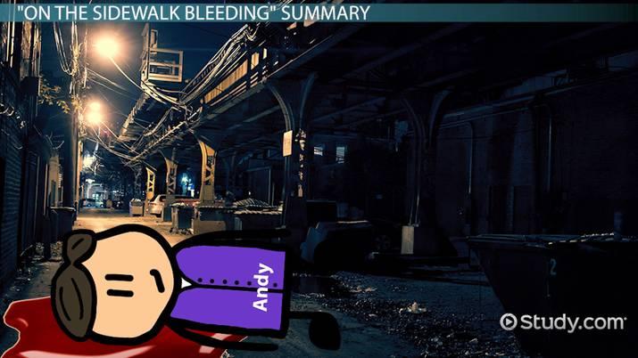 On The Sidewalk Bleeding Summary  Themes  Video  Lesson  Video Thumbnail