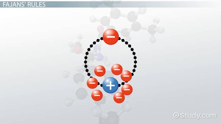 Fajans Rules For Chemical Bonds Video Lesson Transcript