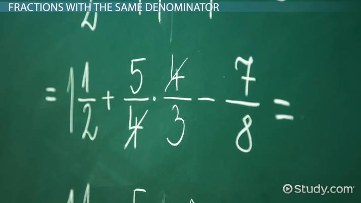 How to Add Three or More Fractions with Like & Unlike Denominators