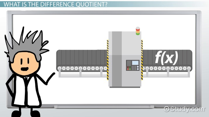 Difference Quotient: Definition, Formula & Examples - Video & Lesson