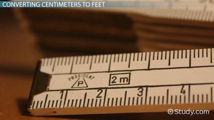 Converting 178 Cm To Feet Video Lesson Transcript Study Com