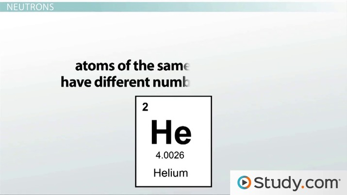 Atomic Number And Mass Number Video Lesson Transcript Study