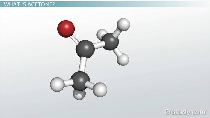 Acetone Reactions with Water, Alcohol & Iodine - Video & Lesson