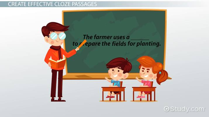 Applying the Cloze Procedure to Reading Passages - Video & Lesson