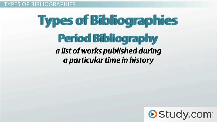 What is a bibliography and when should i write one video lesson what is a bibliography and when should i write one video lesson transcript study fandeluxe Image collections