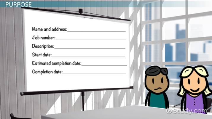 Job Cost Sheet Purpose Characteristics Video Lesson