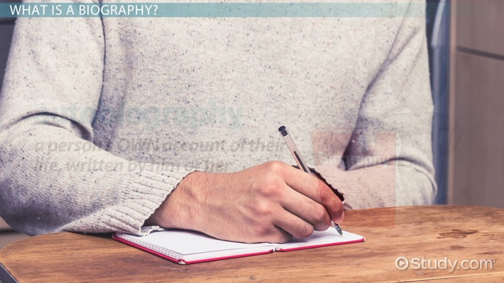 How To Write A Biography Lesson For Kids Video Lesson