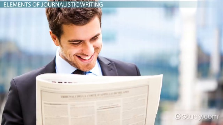 Journalistic Writing: Characteristics & Functions - Video & Lesson