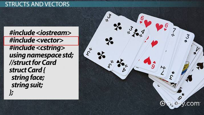 Structs with Functions & Vectors in C++ Programming - Video