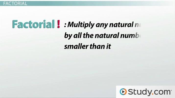 What Is a Factorial? - Video & Lesson Transcript | Study com