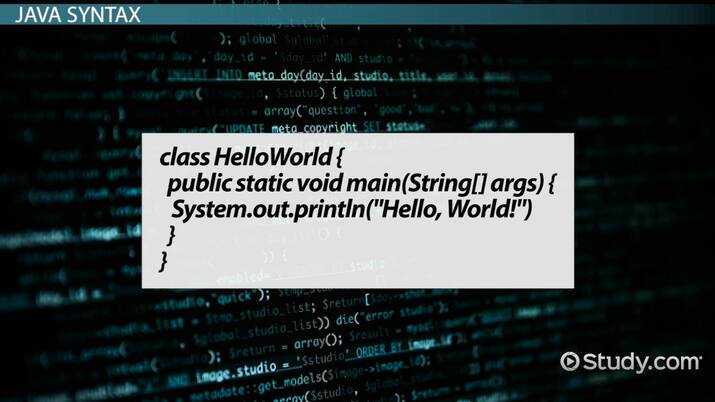 Java S Hello World Print Statement Example Video Lesson