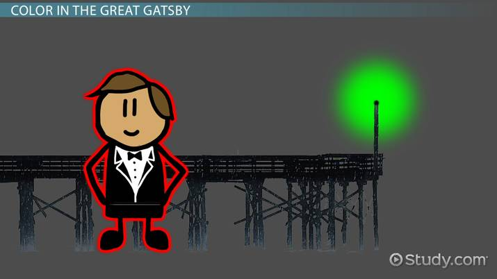 what does the color green represent in the great gatsby