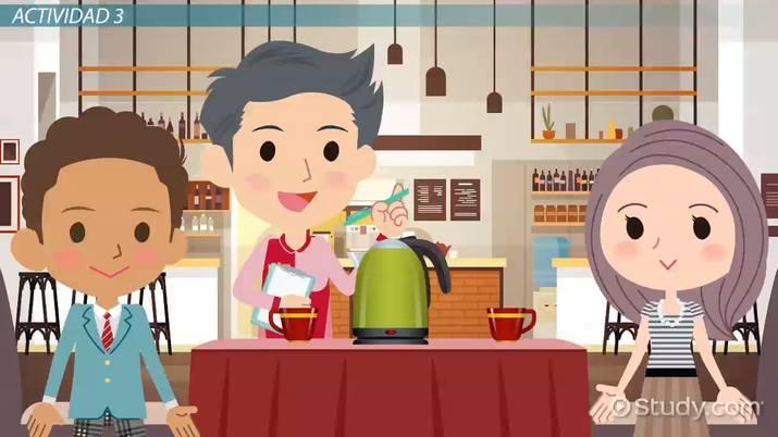 Ordering Food Spanish Practice Activity Video Lesson Transcript