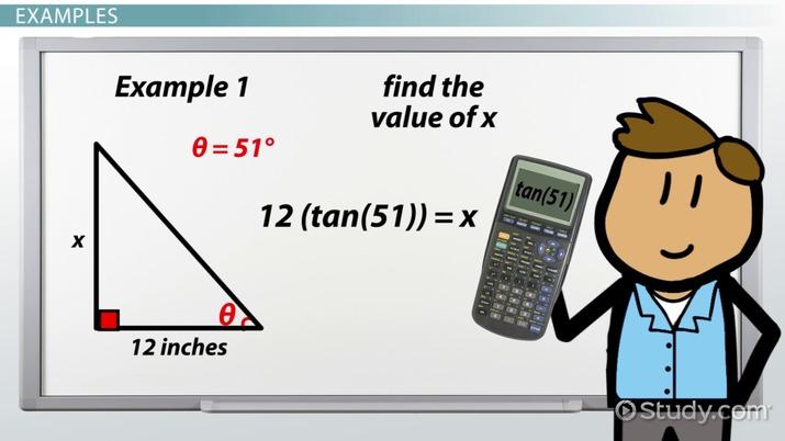 Tangent Ratio: Definition & Formula - Video & Lesson Transcript