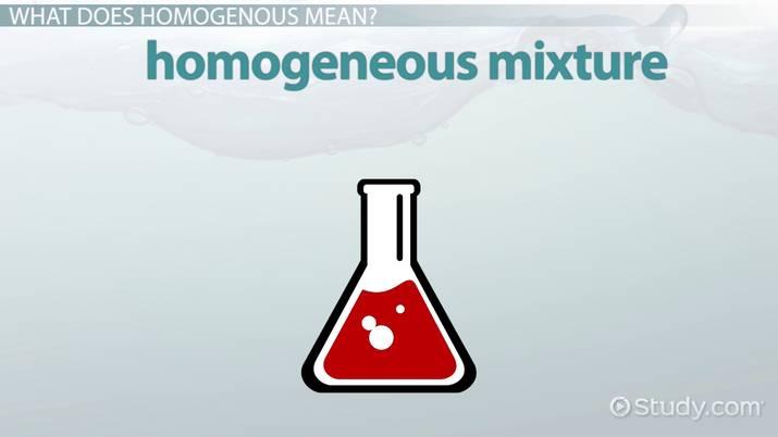 homogeneous mixture definition  lesson for kids