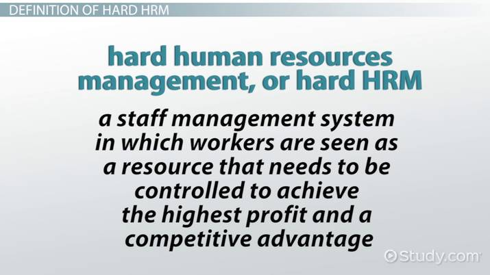 hard hrm advantages and disadvantages