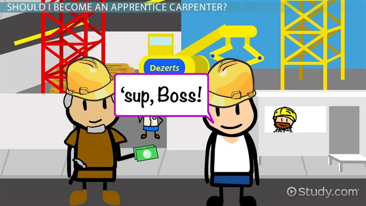 How To Become An Apprentice Carpenter