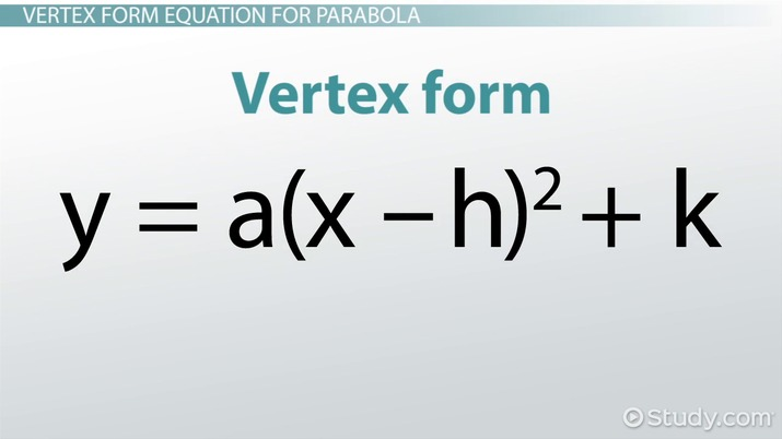 writing standard-form equations for parabolas: definition