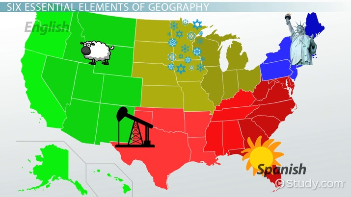 Physical Map Of Canada 6th Grade.The Six Essential Elements Of Geography Video Lesson Transcript