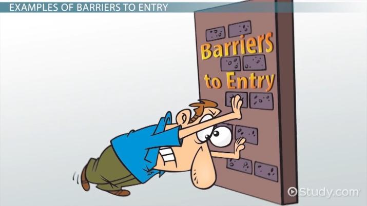 barriers to entry in economics  definition  types