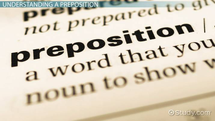 Starting & Ending Sentences with a Preposition - Video & Lesson