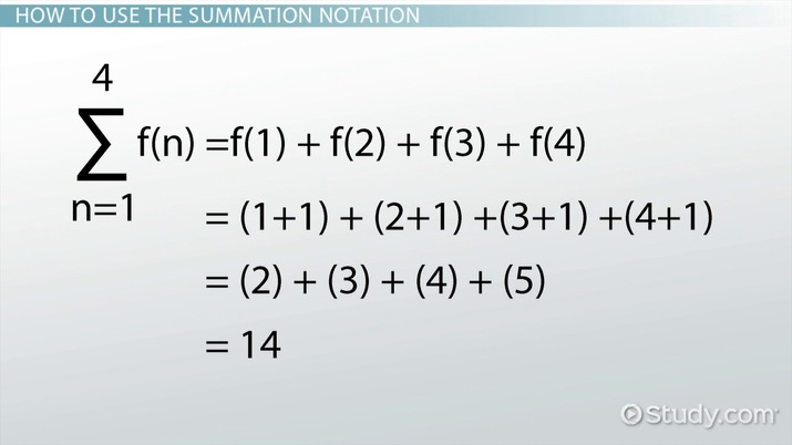 Summation Notation: Rules & Examples - Video & Lesson