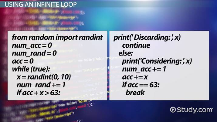 Infinite Loops in Python: Definition & Examples - Video