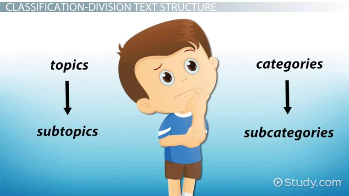 Classification Division Text Structure Definition Examples