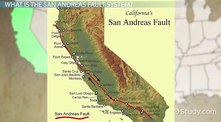 San Andreas Fault Location Facts Earthquakes Video Lesson