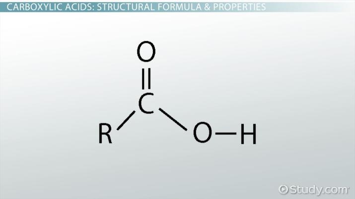 Carboxylic Acid: Structural Formula, Properties & Uses - Video