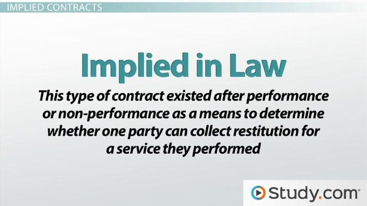 Expressed Vs Implied Contracts Differences  Examples  Video