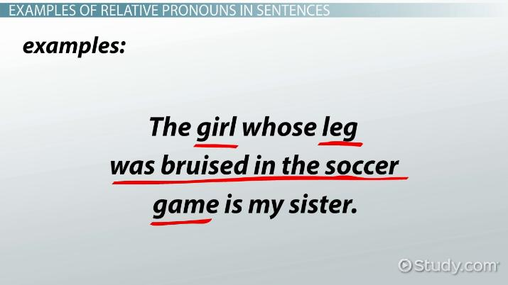 Relative Pronouns Definition Examples Video Lesson Transcript