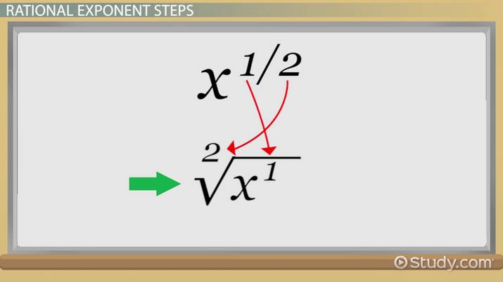 Addition & Subtraction of Rational Exponents - Video