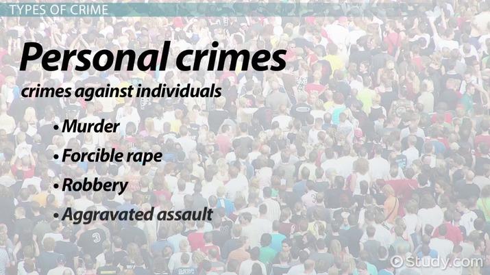 Crime: Definition & Types - Video & Lesson Transcript | Study com