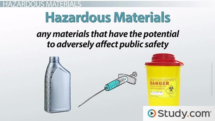 Disposing of Hazardous Materials: Public Safety