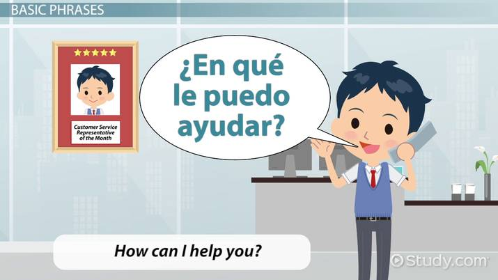 Spanish Vocabulary for Customer Service Solutions - Video & Lesson