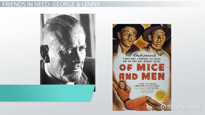 friendship in of mice and men   video  lesson transcript  studycom friendship in of mice and men