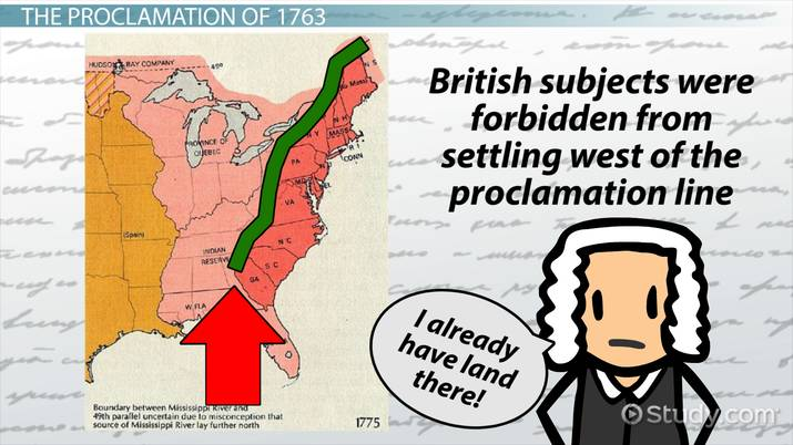 What Is The Proclamation Of 1763 Lesson For Kids Video