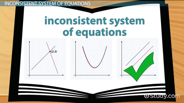 inconsistent system of equations  definition  u0026 example