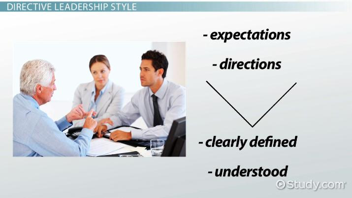 directive leadership style  definition  u0026 concept