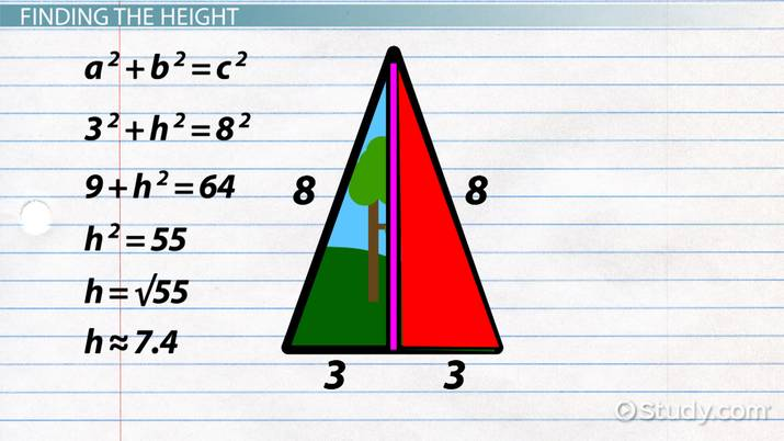 How To Find The Area Of An Isosceles Triangle Video Lesson