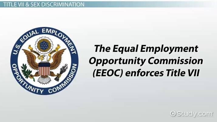 Sex discrimination work placa