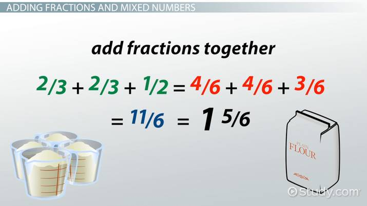 Add subtract multiply divide fractions mixed numbers video add subtract multiply divide fractions mixed numbers video lesson transcript study fandeluxe Choice Image