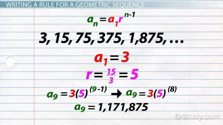 Geometric Sequence: Formula & Examples - Video & Lesson Transcript