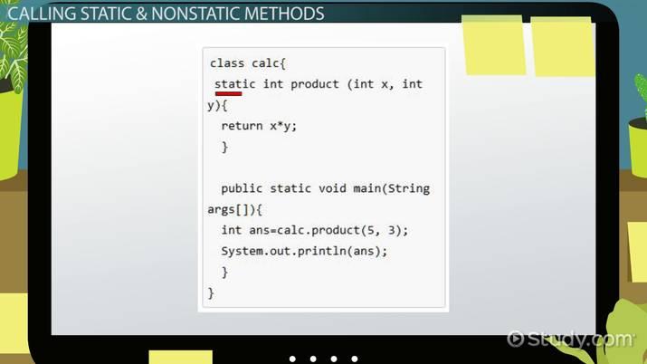 Static vs  Non-Static Methods in Java - Video & Lesson Transcript