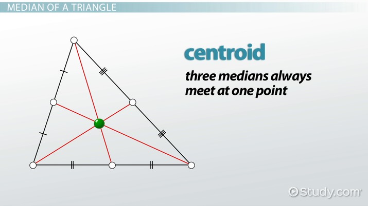 Median Of A Triangle Definition Formula Video Lesson