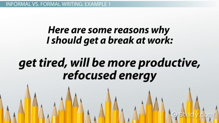 Formal Writing Definition Rules Examples Video Lesson