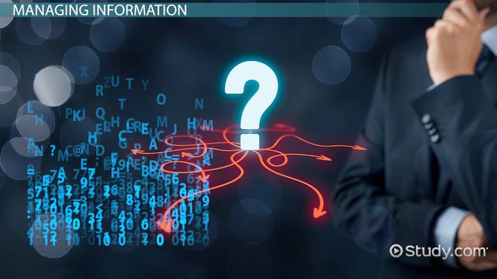 Functions Of Information Systems In Project Management Video Lesson Transcript Study Com