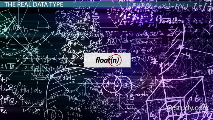SQL Data Types: REAL, FLOAT & DOUBLE