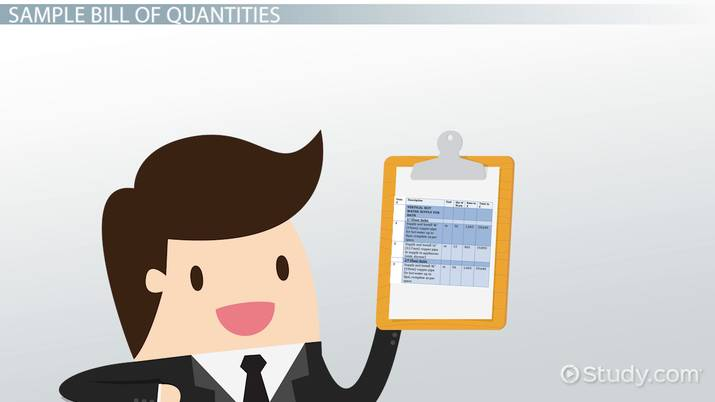 Bill of Quantities: Definition, Preparation, Format & Example